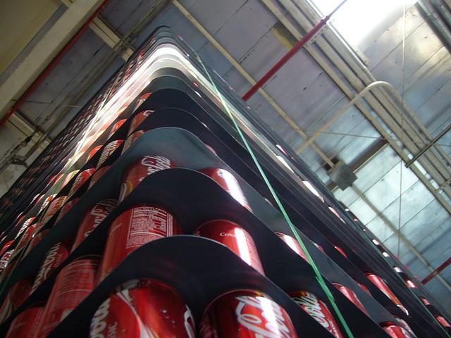 Mountain of Coca-Cola Cans