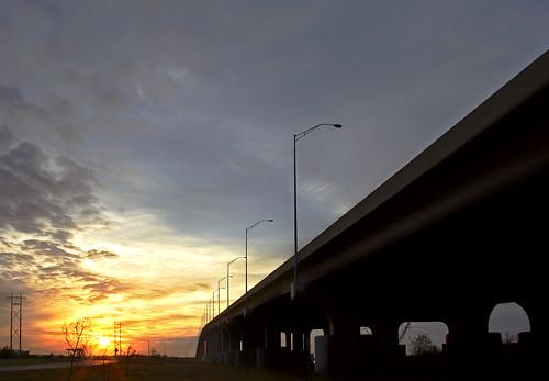 bridge sunset mississippi highrise hdr pascagoula