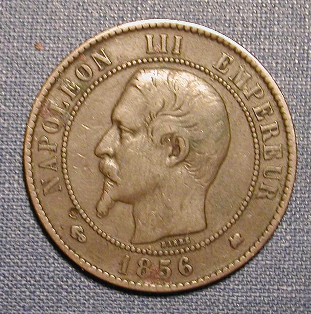 1856 Napoleon III Ten Cents Obv | Tiffany Follett | Flickr