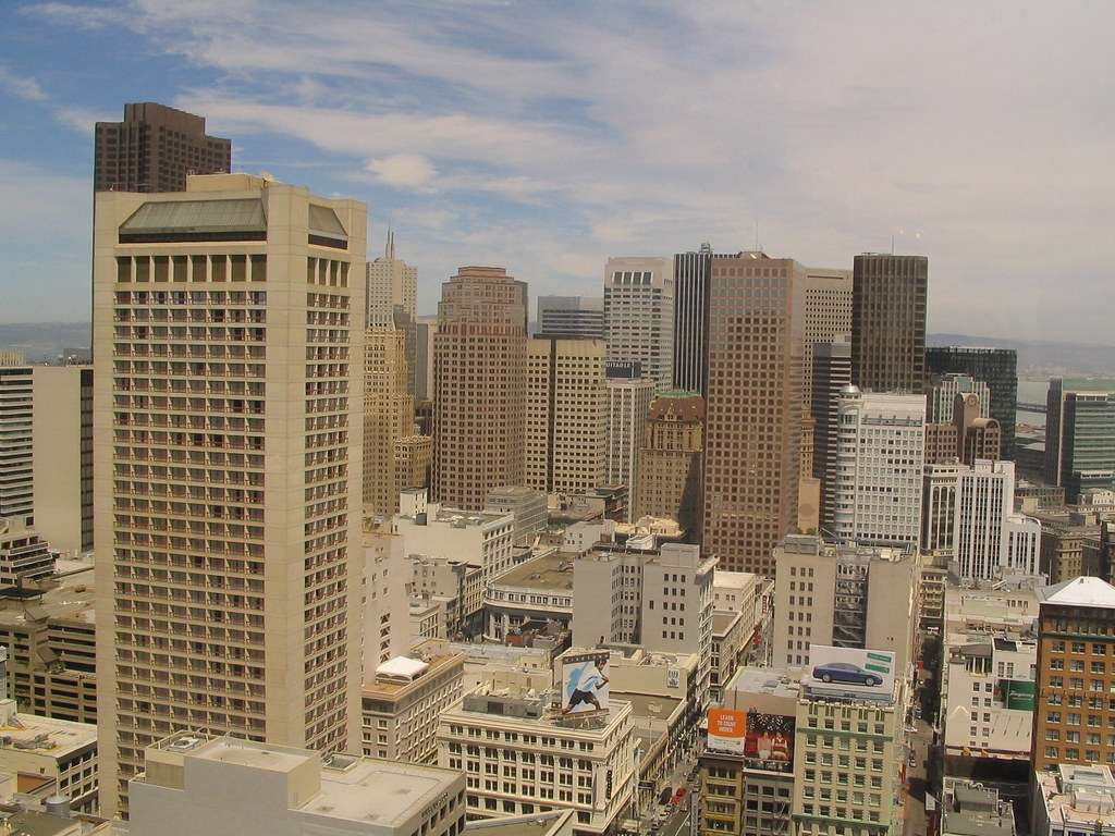 View of San Francisco Financial District from the Westin S ...