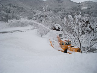 snow plow and gassho | by tsuda