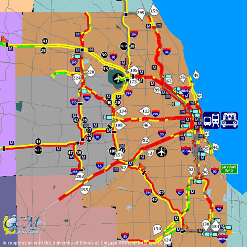 Chicago Traffic Maps Chicago traffic map at 5:40 pm on December 8 2005 | WOW   th… | Flickr