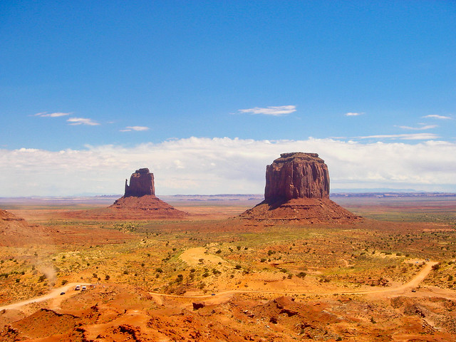 Monument Valley, Utah - Mitchell Butte and Monolith