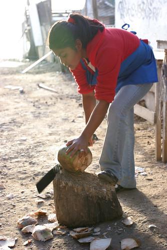 Chopping Coconuts   by nathangibbs