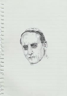 Zavier Ellis 'Mad Nazi Priest Drawing # 3', 2014 Pencil on paper 21x14.8cm