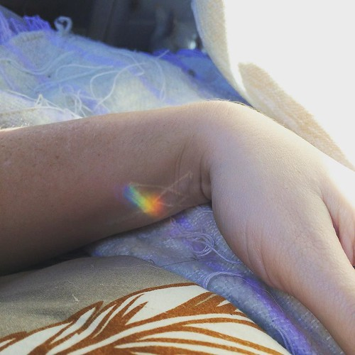 Rainbow prism appearing like a little benediction over scars on top of scars. Today, I let myself rest. I've been burning with fever and plagued by cedar, and so I welcome in the year from my bed. I've been working so hard hard hard. Now I am surrendering | by Angeliska