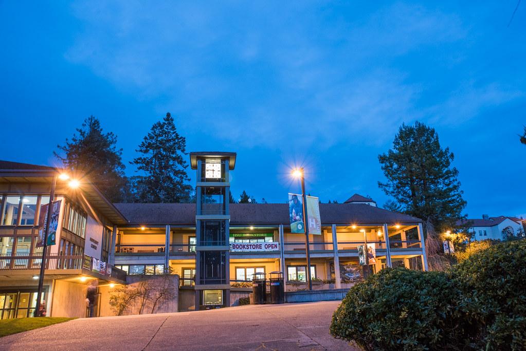 Quad at night | Humboldt State University | Flickr Humbodlt State University on