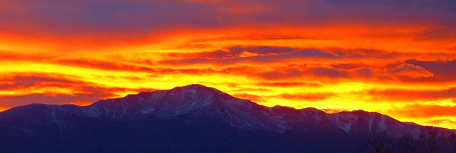 PIKES PEAK SUNSET pano shot