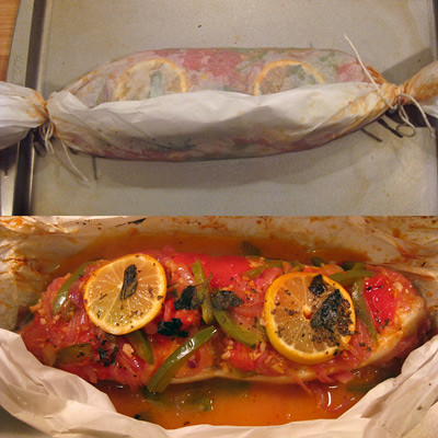 baked halibut wrapped | by giffconstable