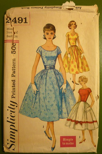 Simplicity 2491 (~1958) pattern envelope | by indiamos