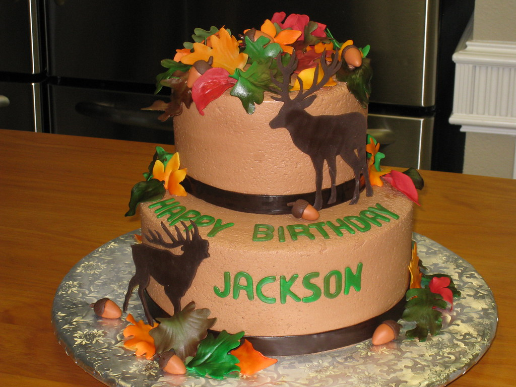 Brilliant Hunting Birthday Cake Chocolate Cake With Chocolate Butter Flickr Funny Birthday Cards Online Barepcheapnameinfo