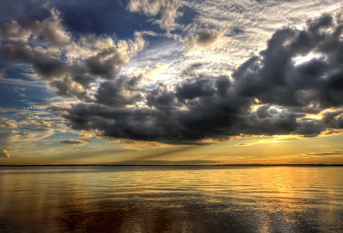 sunset bay newjersey cloudy barnegat hdr tomsriver —obramaestra—