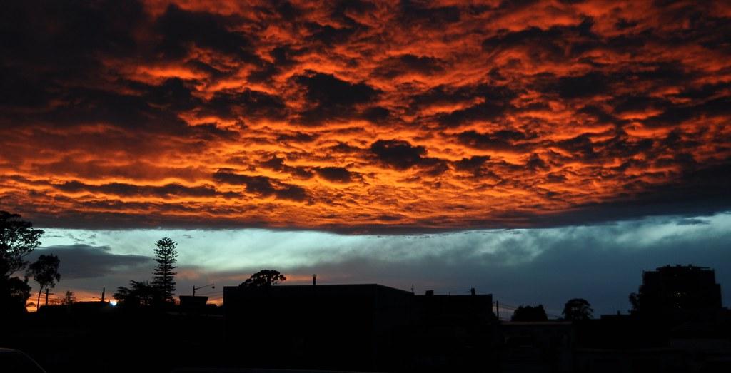 Sunset Over Waitara by Thristian