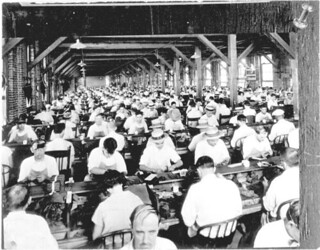 Employees hand rolling cigars in a cigar factory: Ybor City, Florida | by State Library and Archives of Florida