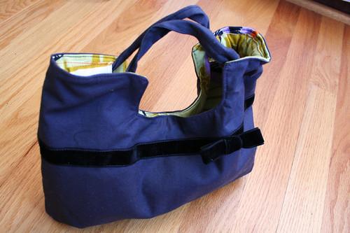 charming handbag with snap