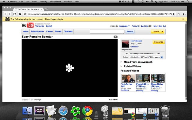 Flash Player plugin crash on Google Chrome Mac | OS X Google