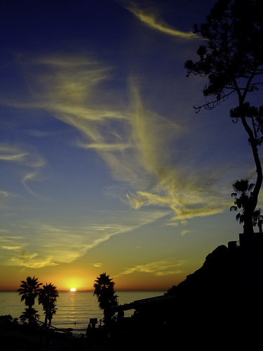 california sunset sky water clouds solanabeach silhouettes