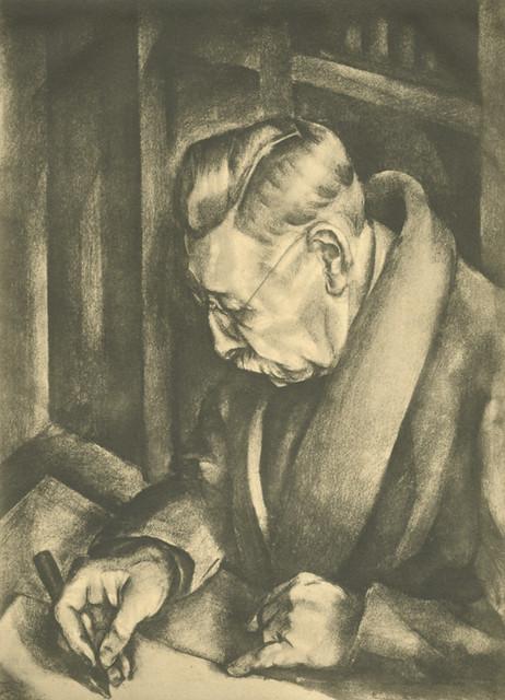 Portret Door Jelle Troelstra 1925 Mijn Vader Pieter Jell