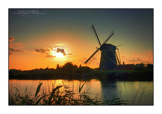HDR Sunset @ Windmill 'Prinsenmolen', Rotterdam   by Vincent_AF