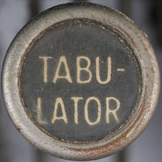 typewriter key TABULATOR