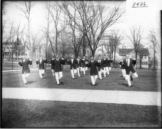 Men doing Irish jig for Miami University gymnasium exhibition 1908   by Miami U. Libraries - Digital Collections