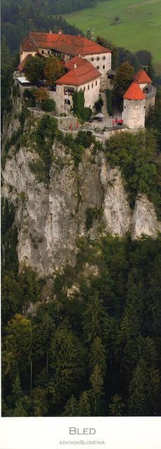 Bled Castle, Slovenia Postcard