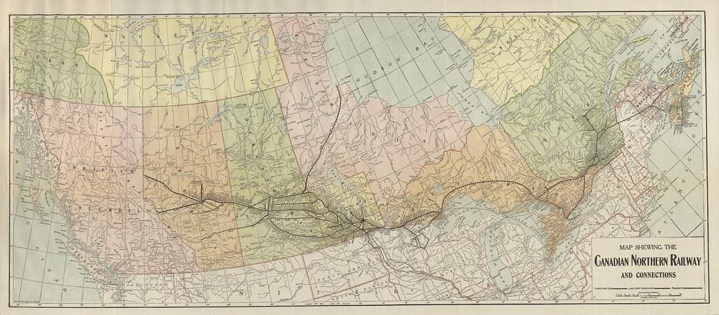 Canadian Railways Map on