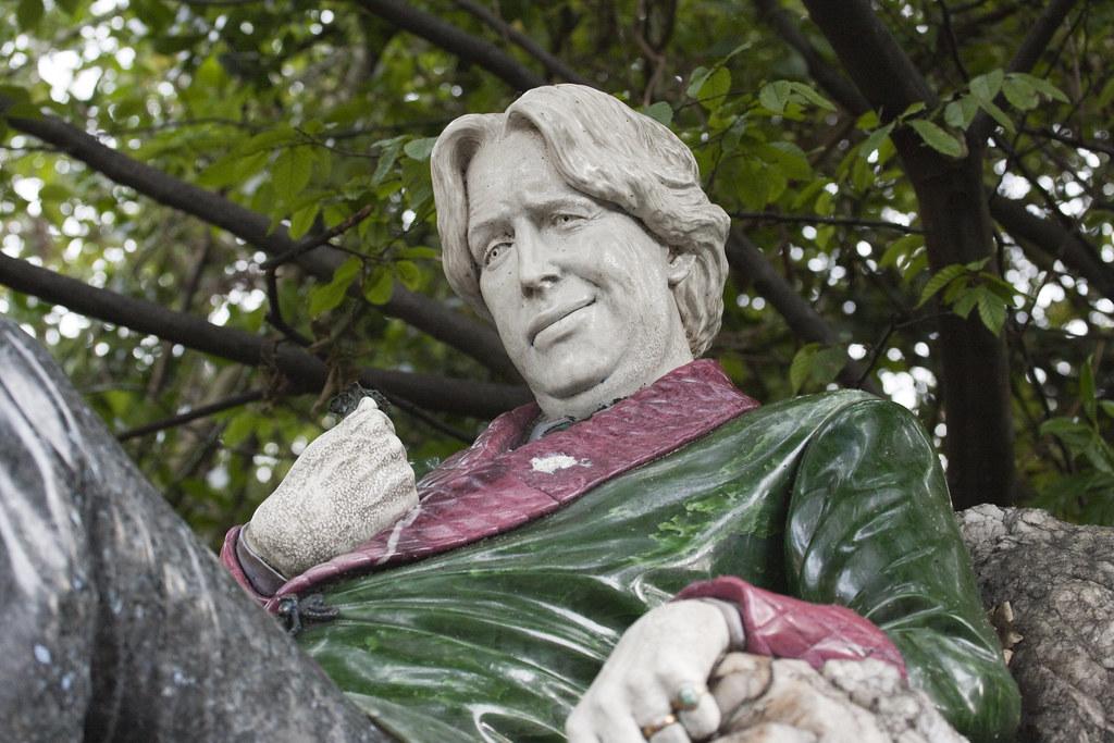 Oscar Wilde reclining on the rock. | Oscar Fingal O'Flaherti… | Flickr