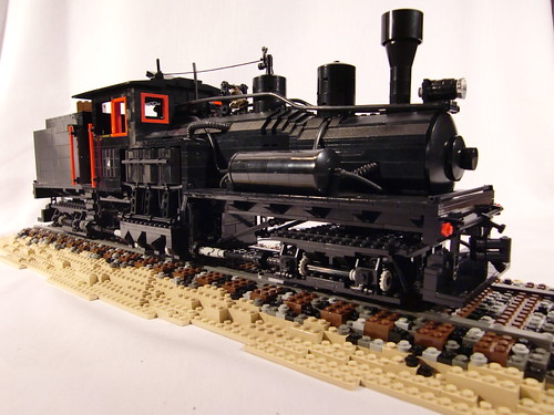 Lego Shay Logging Locomotive Sculpture