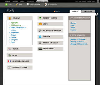 Admin section Config