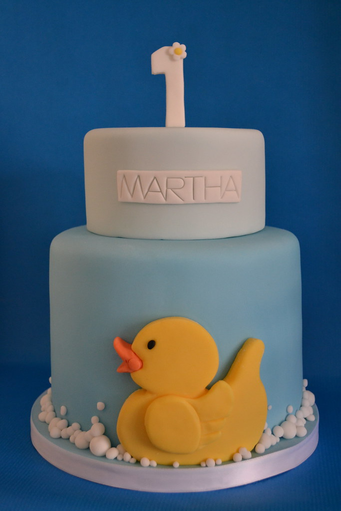 Phenomenal Yellow Duck 1St Birthday Cake This Cake Is For My Lovely L Flickr Funny Birthday Cards Online Inifodamsfinfo