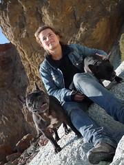 me and the doggies at cabo de gato by Schnella Schnyder