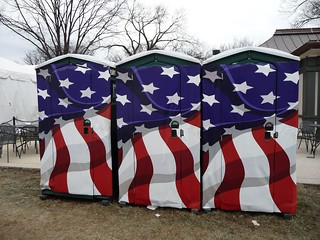 Patriotic Porta Johns - 2009 Presidential Inauguration | by Hugh Grew