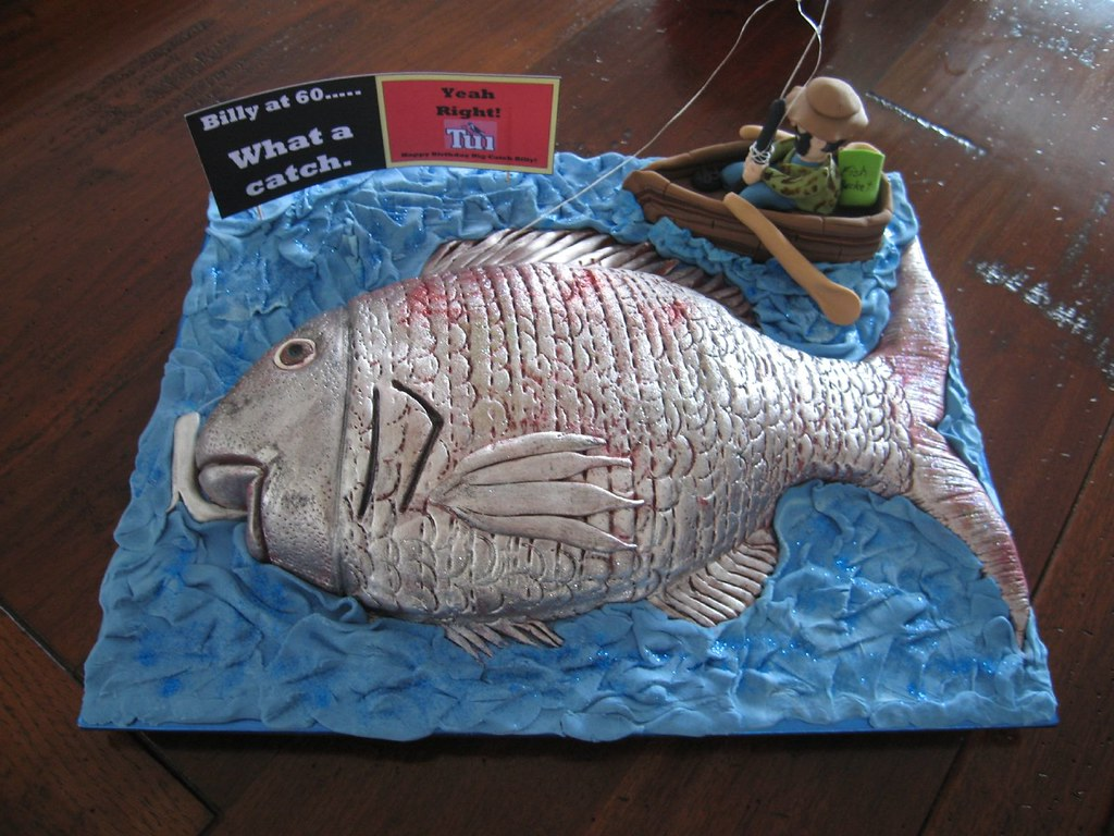 Awe Inspiring The Big Catch Fish Cake 60Th Birthday Cake Chocolate And Flickr Funny Birthday Cards Online Overcheapnameinfo