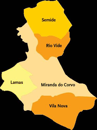 Concelho De Miranda Do Corvo Mapa Das Freguesias Jorge Bastos