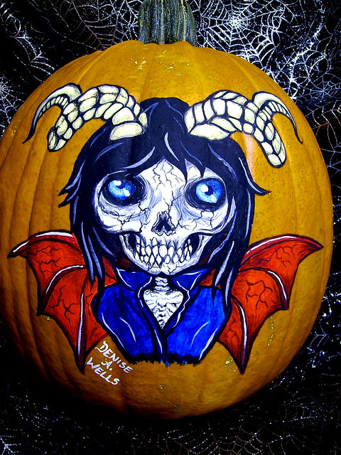Pumpkin Painting by Denise A.Wells