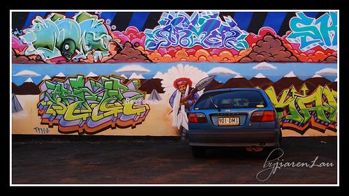 Graffiti and his Car @ Worldwide Photo Walk 2009 | by Jiaren Lau