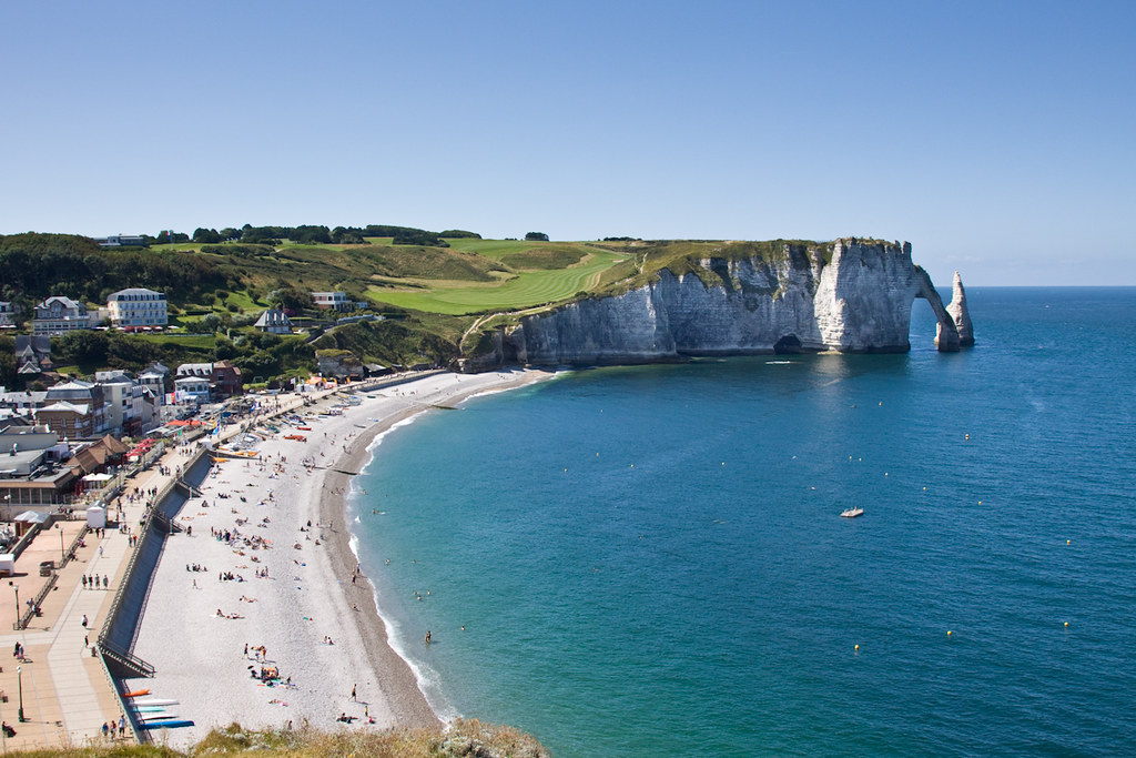 Etretat Normandie France The Village And Beach With La Flickr