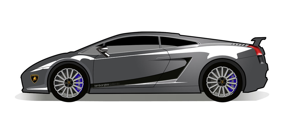 Lamborghini Gallardo I Drew In Photoshop It S Not The Best Flickr