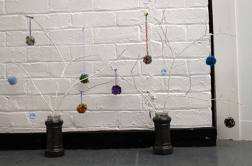 small trees with pom-poms!