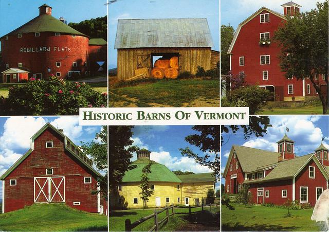 Vermont Barns Multi-View Postcard
