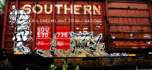 railroad overgrown logo geotagged graffiti weeds kentucky tag tracks railway motto tags tagged southern gore rails weathered spraypaint graff graphiti 777 sou stamped dens ick trainart westernkentucky railart spraypaintart triple7 owensborokentucky retribalize wafflecar densr daviesscountykentucky taggedboxcar doctorscrew paintedrailcar taggedrailcar southernboxcar givesagreenlighttoinnovations 530736 geo:lat=3776851 geo:lon=87092571