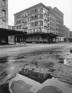 Bleak, abandoned warehouses on West Street between Jay St and Duane Street. Right by the new World Trade Center. New York. 1967 | by wavz13