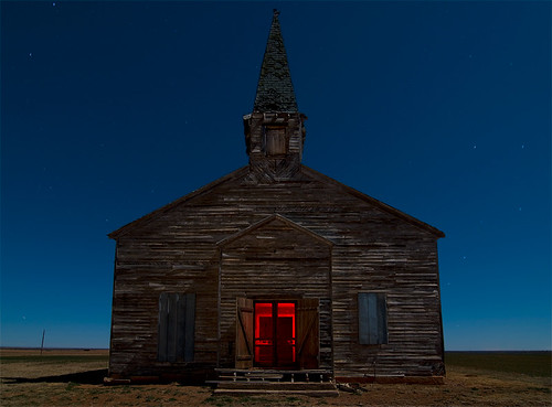 abandoned church night town texas ghost vee cee