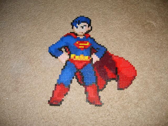 Superman Bead Art Of The Man Of Steel Original Pixel Art