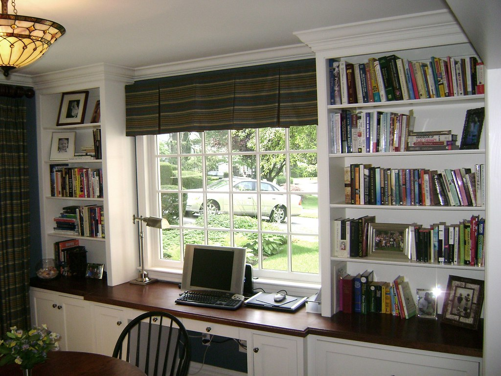 Sunroom Office W Mahogany Countertop Curtis Terzis Flickr