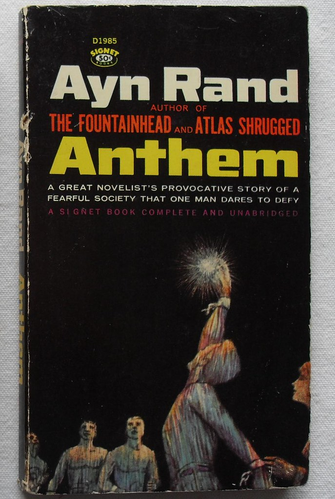 Ayn Rand Anthem A Book From My Personal Collection Christian