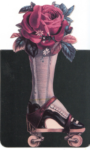 Victorian Shaped Rollerskate Note Card