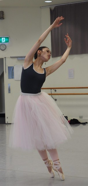 Ako Kondo - Australian prima ballerina in rehearsal for