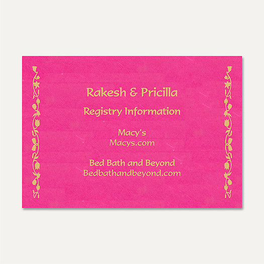 Wedding Invitations Gift Registry Cards Gr40 These Gift Re
